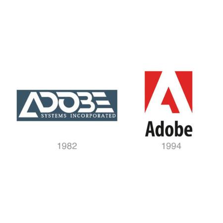 Evolución del logo de Adobe