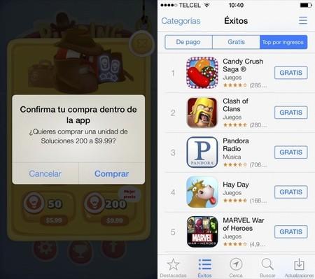 Apple dará una pequeña recompensa a las compras in app por error