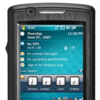 Asus PDA Phone P750, con lector de tarjetas de visita