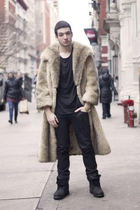 El Mejor Street Style De La Semana Trendencias Hombre Faux Fur Men Fall Winter 2019 08