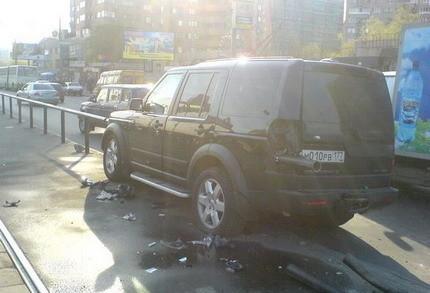 Land Rover Discovery empalado