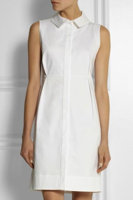 Vestido camisero blanco de Jil sander