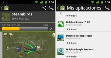 Actualización Android Market 3.1.5
