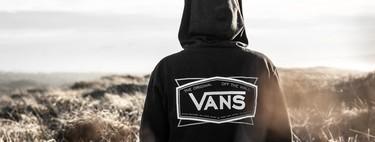 Ofertas en tallas sueltas de camisetas, sudaderas y chaquetas Vans y DC Shoes rebajadas en Amazon