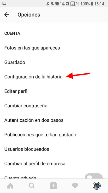 Configuracion Historia