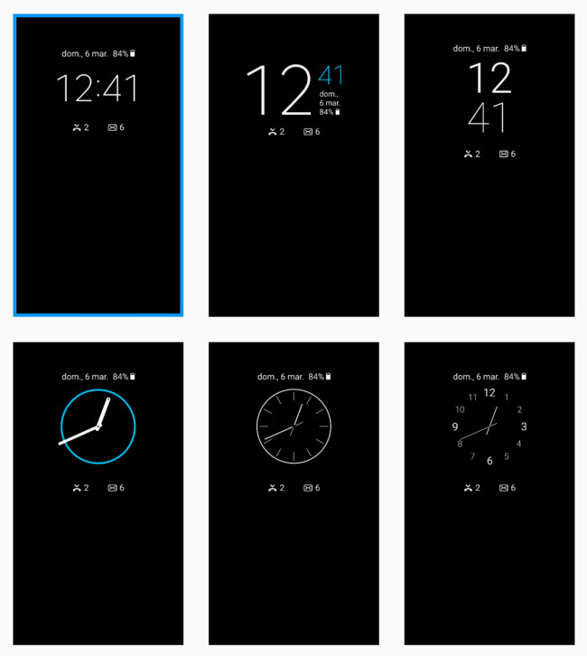 Tipos Reloj S7 Edge Always On