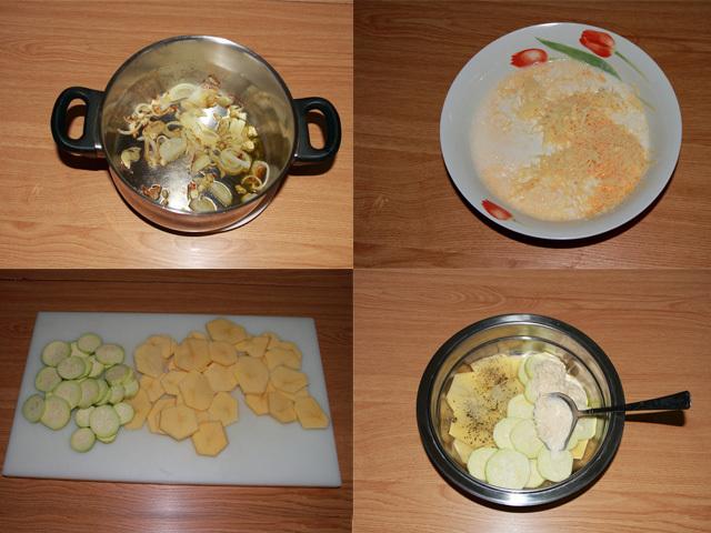 Paso a paso de patatas gratinadas con queso emmental sin lactosa
