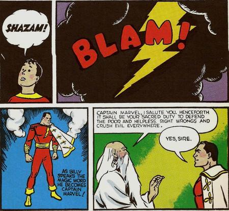 Shazam Captain Marvel Billy Y El Mago