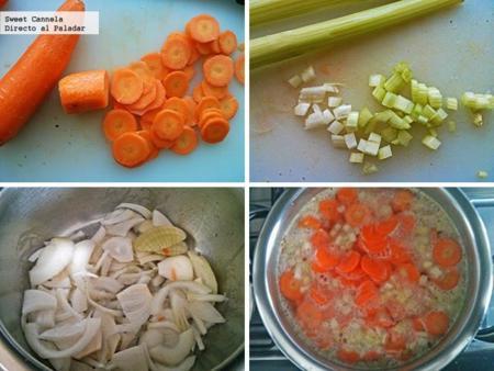 Preparacion Sopa Zanahoria