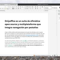 Onlyoffice es un suite de ofimática open source y multiplataforma que integra navegación por pestañas