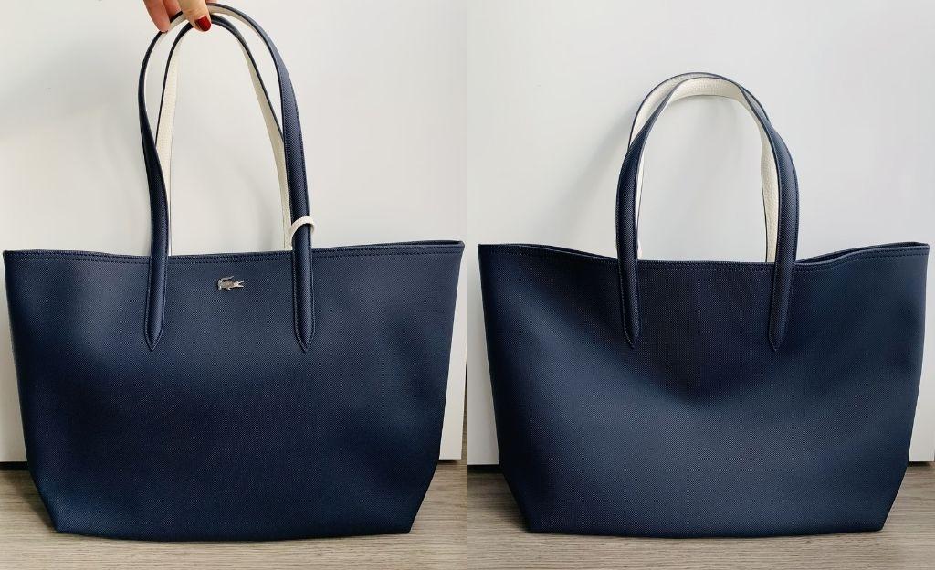 Bolso shopper azul marino de Lacoste