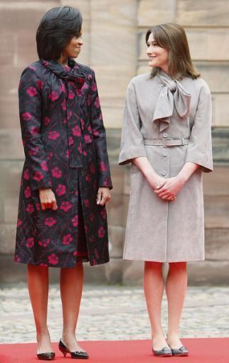 Duelo de estilos: Michelle Obama contra Carla Bruni