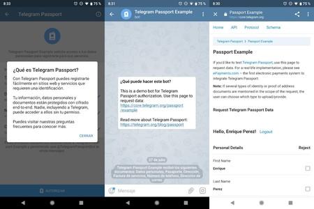 Telegram Passport: así funciona el nuevo servicio para guardar el pasaporte o documento de identidad