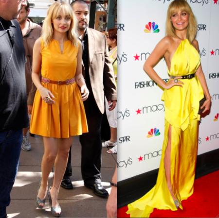 Nicole Richie Vestido Amarillo