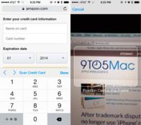 Safari en iOS 8 permitirá escanear información de tarjetas de crédito