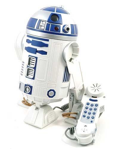 Teléfono con forma de R2-D2