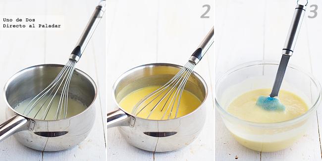 Receta de mousse de mango con arándanos