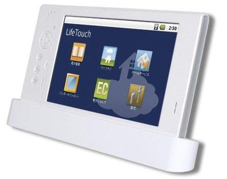 Tablet de NEC con Android vestido de blanco impoluto