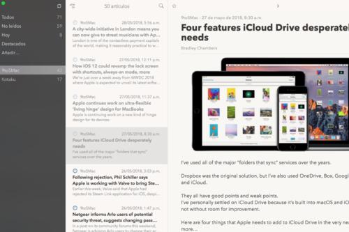 Cappuccino, una nueva app de RSS con apariencia de cliente de correo electrónico