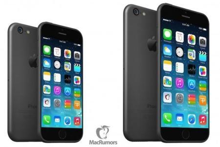 iPhone 6 en dos tamaños de pantalla