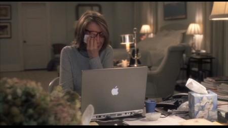 Diane Keaton Crying Computer Social Media Flirt Fail