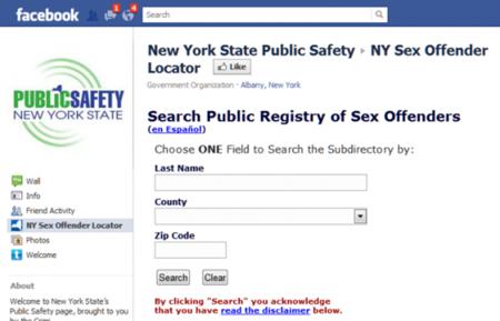 Registro de ofensores sexuales en nueva york