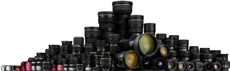 All Nikon Nikkor Lenses Group Shot 2