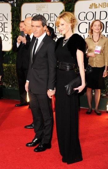 Antonio Banderas de Dior Homme en los Globos de Oro 2012