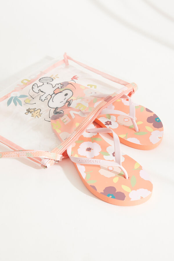Pack chanclas y neceser Snoopy
