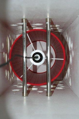 Vista desde abajo de la lámpara
