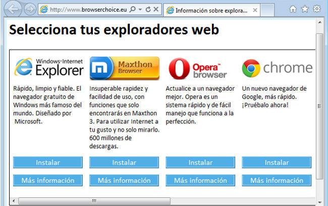 IE Browser Ballot