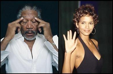 Morgan Freeman y Halle Berry juntos