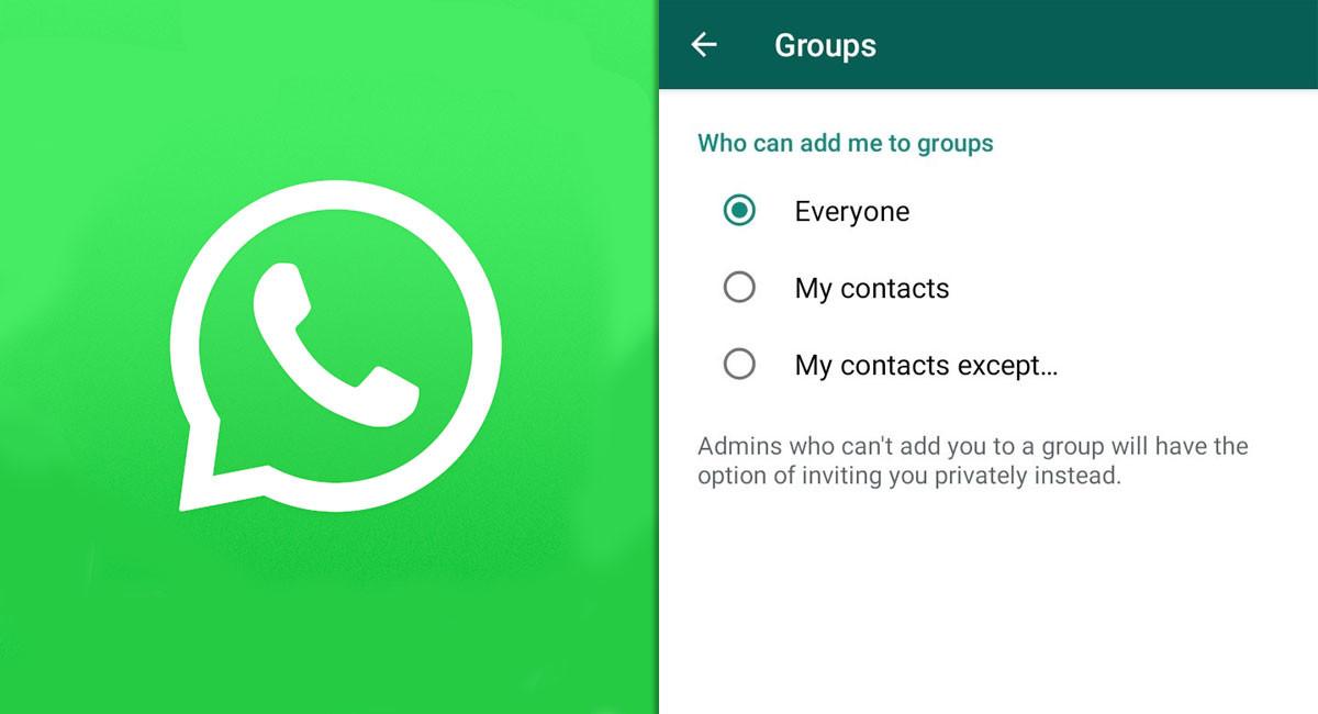 WhatsApp empieza a activar en su beta la opción para evitar que te añadan a grupos sin tu permiso