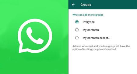 WhatsApp empieza a activar la opción para evitar que te añadan a grupos sin tu permiso