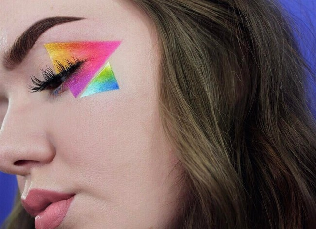 maquillaje geometricos recto triangulos cuadrados