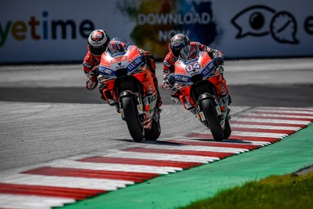 Jorge Lorenzo Andrea Dovizioso Gp Austria Motogp 2018