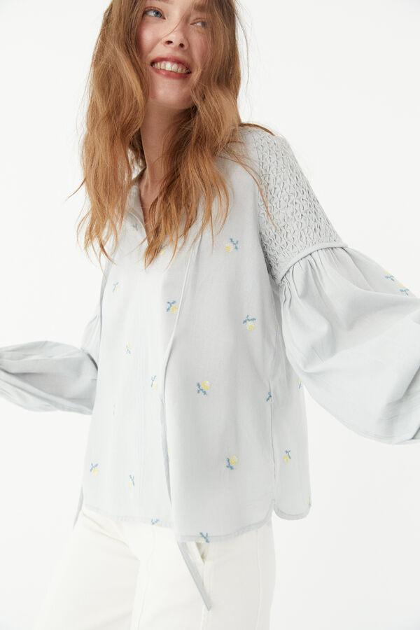 Blusa algodón bordada de Hoss Intropia