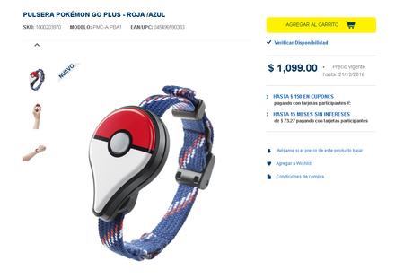 Pokemon Go Plus Bestbuy Precio Mexico