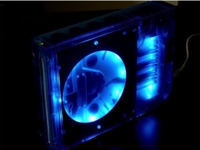 Carcasa para Wii con LEDs azules