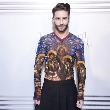 Pelayo Díaz se va de falda al desfile Haute Couture de Gaultier en París