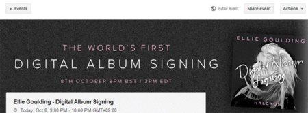 """Que tu artista favorito te firme """"digitalmente"""" un disco, otro de los usos de los Hangouts de Google+"""