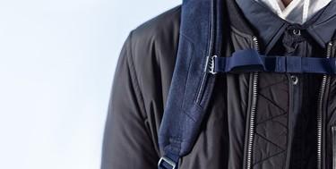 La mochila Herschel equipada con una cobertura especial para la lluvia