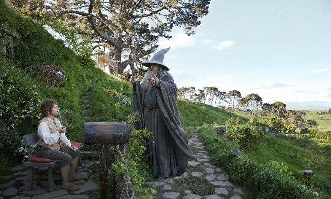 Martin Freeman e Ian McKellen en 'El Hobbit: Un Viaje Inesperado'