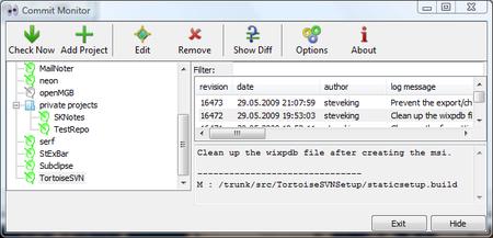 CommitMonitor, una sencilla aplicación para estar atento a cada nuevo commit en el repositorio