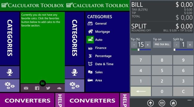 Calculator box, una app de calculadoras