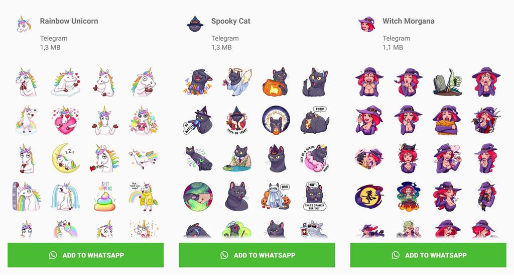 Telegram notifica 20 paquetes de stickers... ¡para WhatsApp!