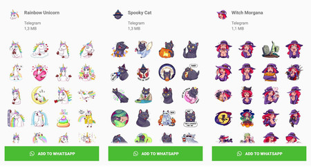 Telegram publica 20 paquetes de stickers... ¡para WhatsApp!