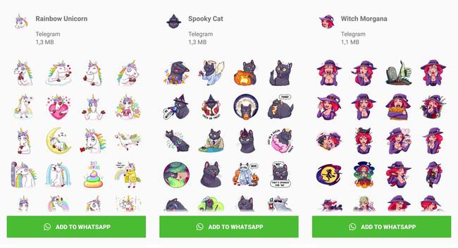 Telegram publica 20 paquetes de stickers... ¡para WhatsApp!