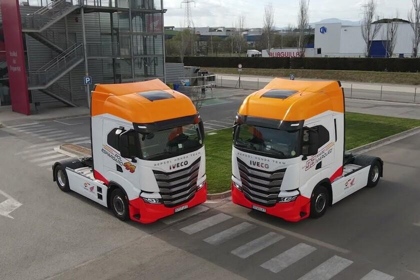Este es el IVECO S-WAY, el camión del Repsol Honda que lucirá los colores de la moto de Marc Márquez en MotoGP
