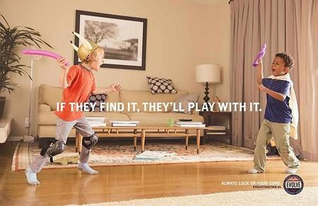 Funny Gun Safety Ad Campaign Evolve Always Lock Up Your Guns 2